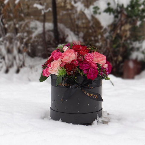 Snowing flower gift